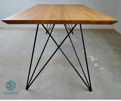 Metal Dining Table Legs (set of 2)  Butterfly Steel Table Legs  Unique  Design! | eBay