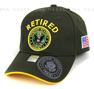 8503dd0ad1e U.S. ARMY hat RETIRED Military Army Official Licensed Baseball cap ...