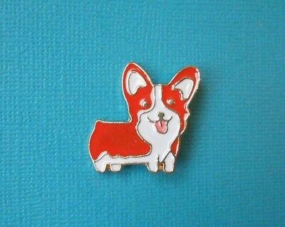 Corgi Puppy Brooch Metal Badge Enamelled Dog Gold Pin Cardigan Pembroke Welsh
