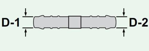 2x Tuyau Connecteur RGV 10 mm 6 mm Connector 57 mm justement réduit noir 105 C