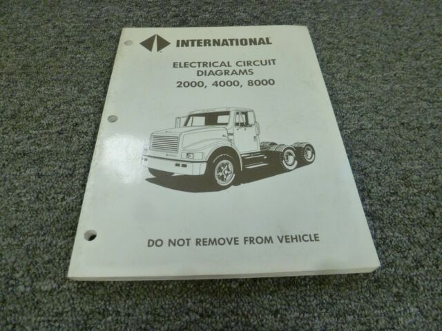 1997 International 2554 2574 2654 2674 Truck Electrical Wiring Diagrams Manual