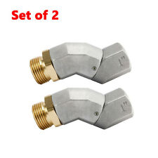 Dasmarine 1 Fuel Hose Swivel 360 Degree Rotating Connector For Fuel Nozzle X2