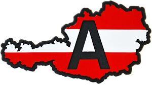 Austria-A-Landkarte-Osterreich-Relief-Schild-3D-Emblem-HR-14357-selbstklebend
