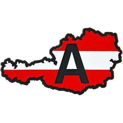Austria A Schild Landkarte Österreich Relief Schild 3D Aufkleber HR Art. 14357