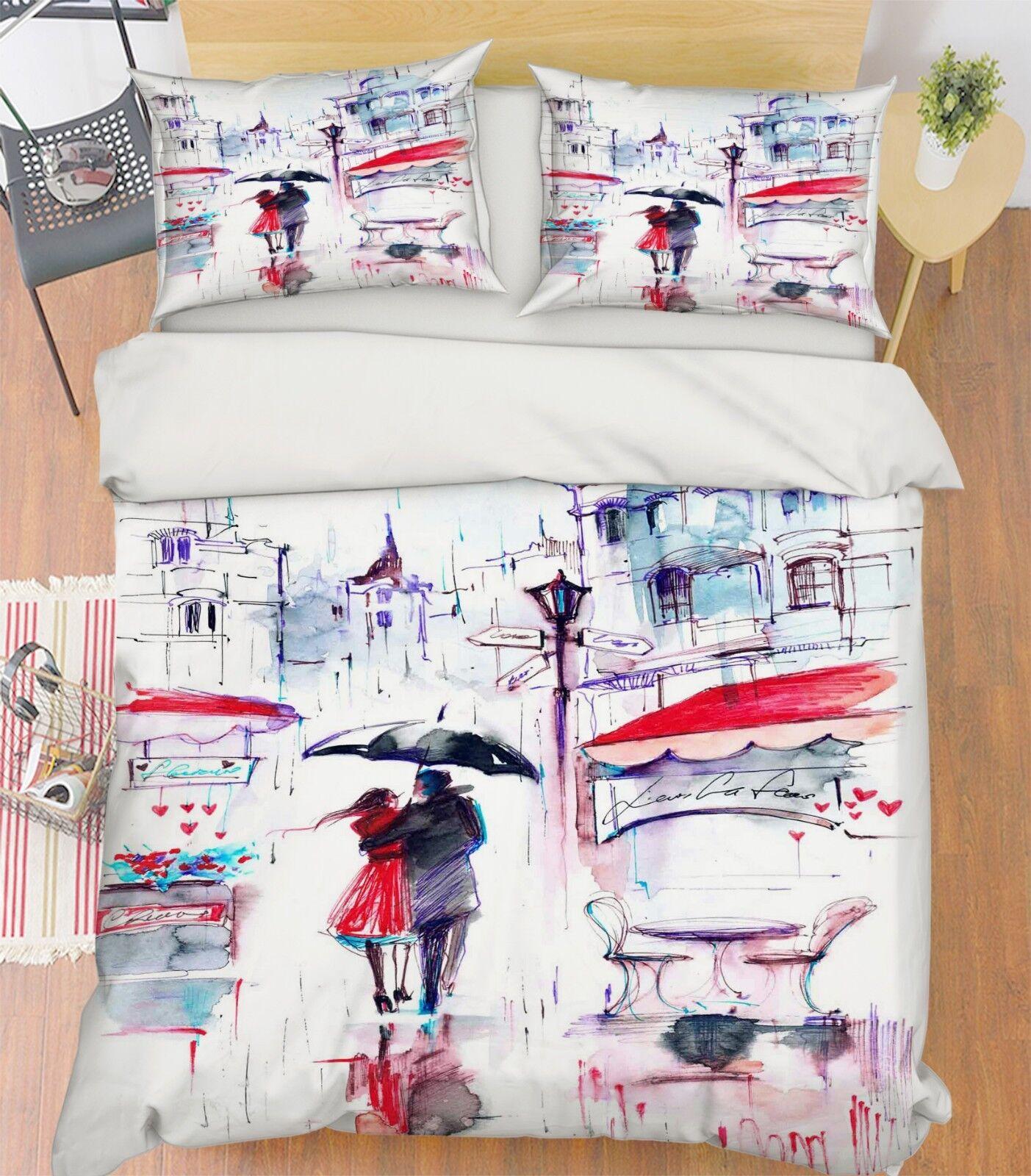 3D Sweetheart Paint 26 Bed Pillowcases Quilt Duvet Single Queen King US Summer