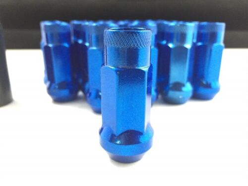 20 PIECES 48MM WHEEL LUG NUTS SETHYBER BLUE FINISHEXTENDED12X1.25
