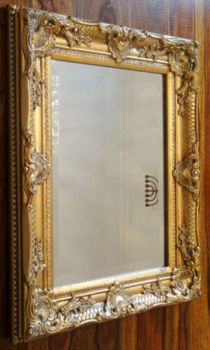 Spiegel Barock Wandspiegel gold Rahmen Antik Badspiegel 44 cm x 54 cm Deko Holz