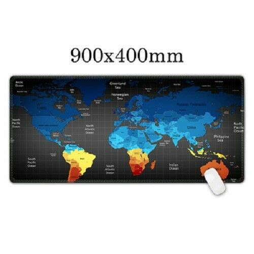 Mouse Pad World Map Pc Computer Gaming Optical Soft Laptop Mat Desk Non Slip 3D