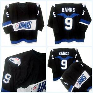 Adam-Banks-9-Hawks-The-Mighty-Ducks-Movie-Men-039-s-Hockey-Jersey-All-Stitched