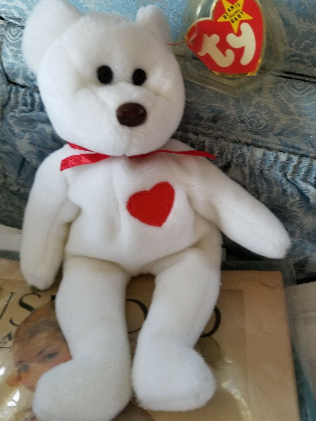 Extremely Rare  VALENTINO 1993 TY INC Beanie Baby with MULTIPLE Tag Errors