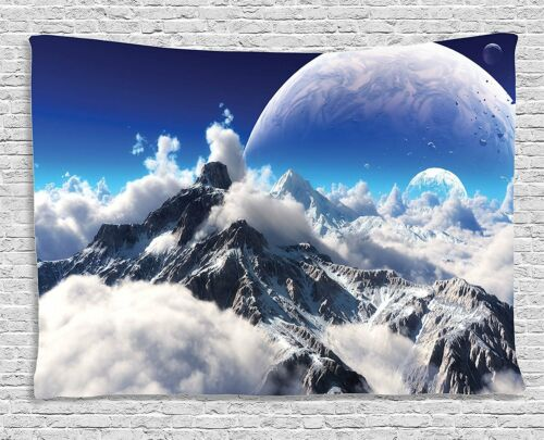 Mountain Planet Scenery Tapestry Wall Hanging Tapestry Living Room Home Decor