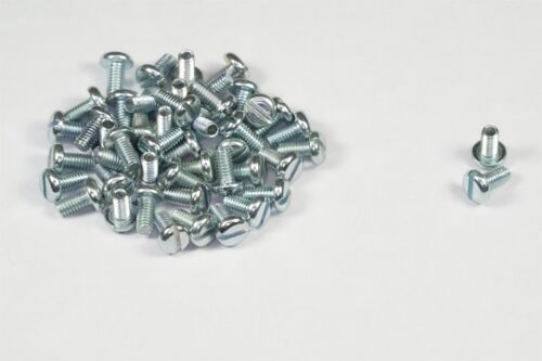Lot of 45 Slotted Pan Head Machine Screws M2.5-.45 x 5mm Long Zinc Plated Steel