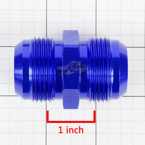 """16AN AN16 AN-16 1/"""" MALE COUPLER//UNION FLARED BLUE GAS//OIL//H20 FINISHED FITTING"""
