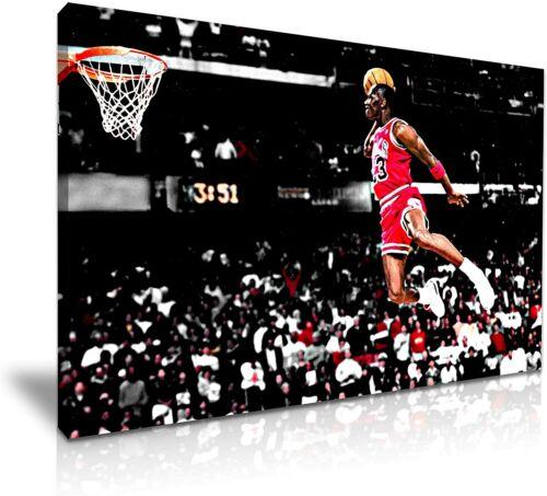 Michael Jordan Canvas Basketball Air Legend Jump Wall Art Home Decor Picture