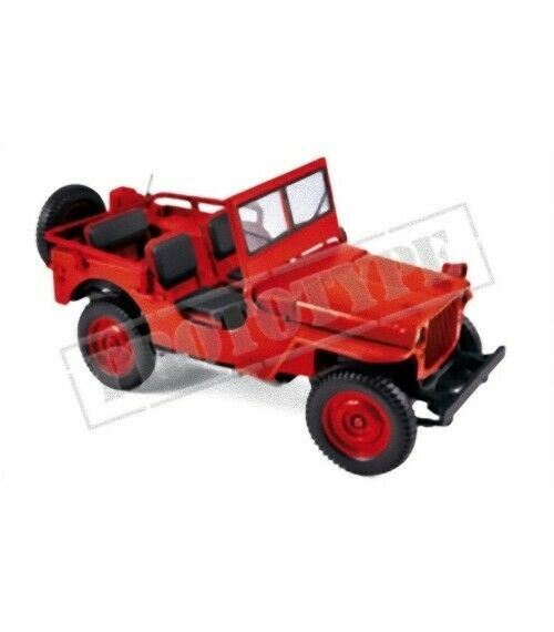 NOREV 189014 - jeep 1942 red 1 18 18 18 9fb