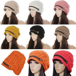 Knit Hats Beanie Crochet Beret Knitted Women Winter Cap Girls Ski ... 6e44767afb9