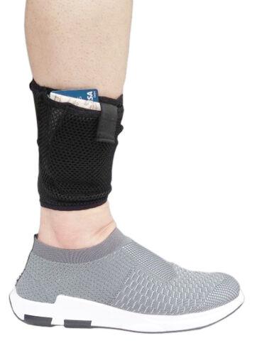 LTG PRO® Concealed Ankle Leg Mesh Wallet Travel Pouch Passport Mobile Purse Bag