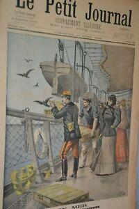 Le-petit-journal-supplement-illustre-10-Avril-1898-En-mer-essai-de-pigeons