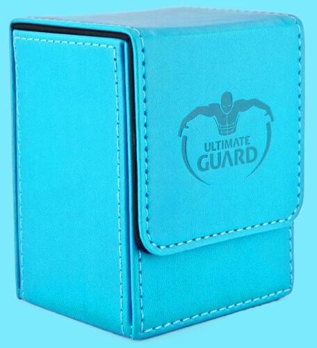ULTIMATE GUARD LEATHERETTE FLIP DECK CASE Standard Size LIGHT BLUE 80 Card Box