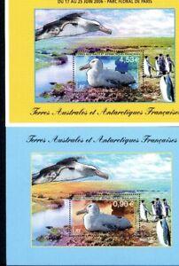 franz-Antarktis-MiNr-Block-15-16-postfrisch-MNH-Albatrosse-Voegel-B768