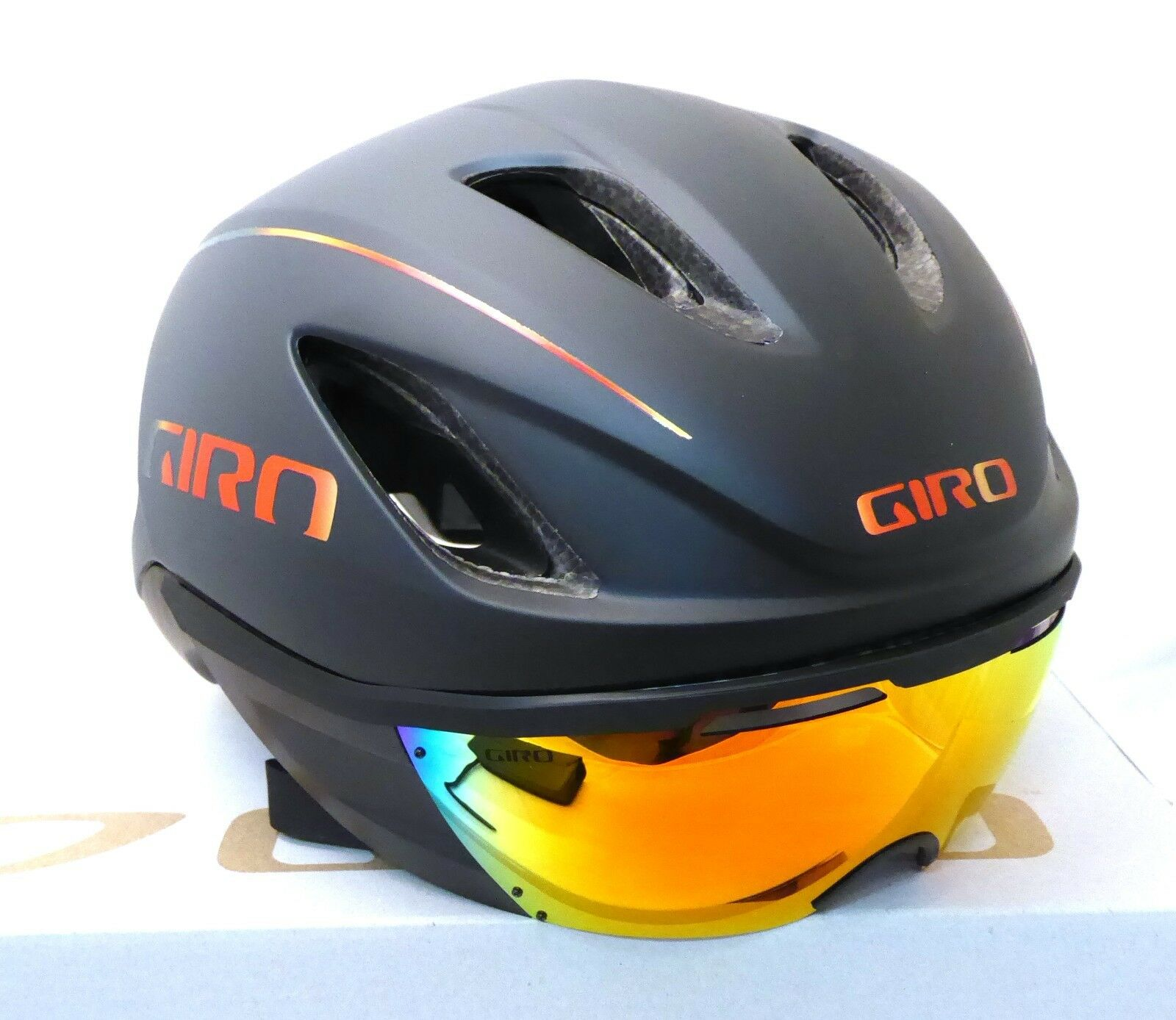 3 Sizes Giro Aerohead Mips Aero//Tri Cycle Bike Helmet Matt Black//Firechrome