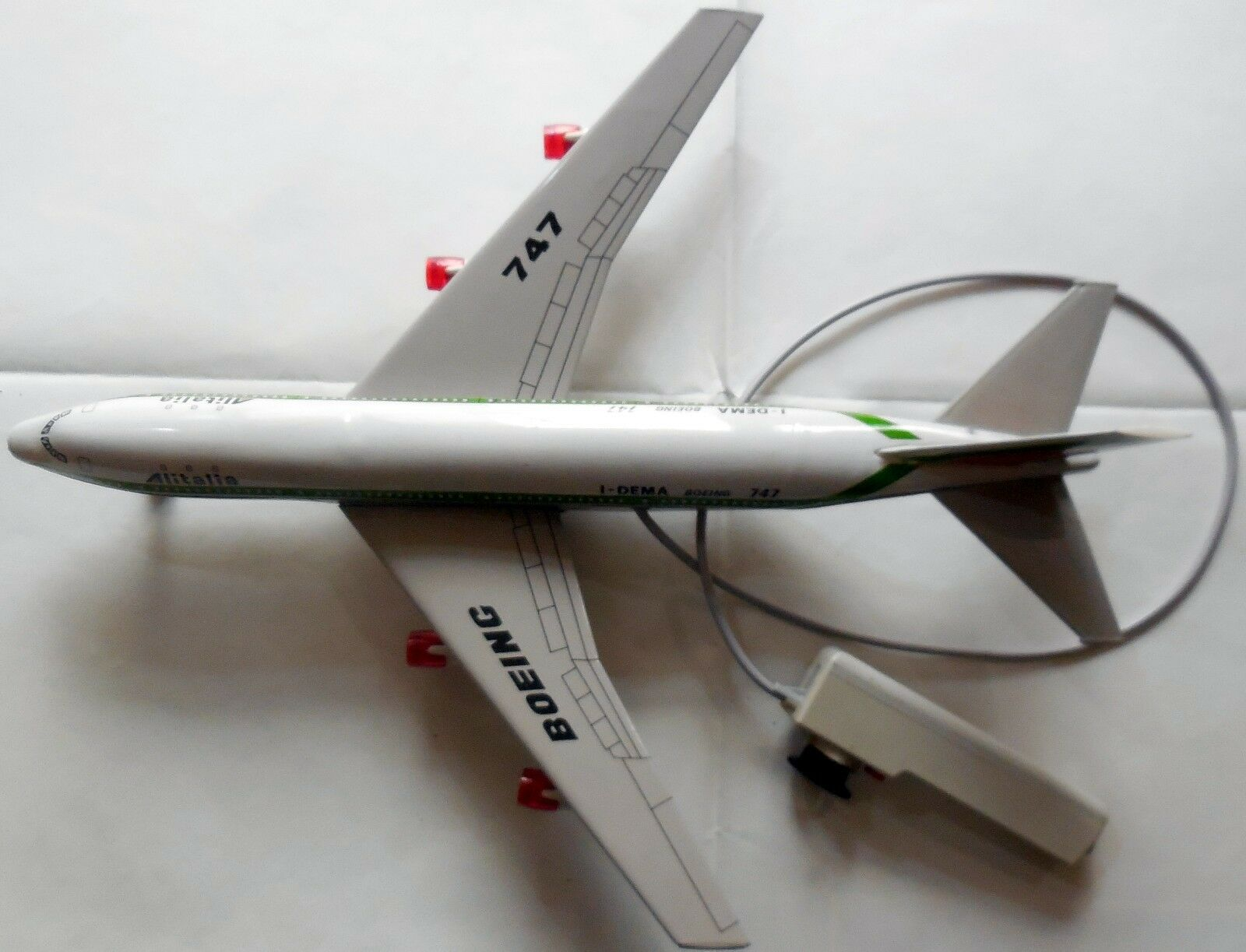 VINTAGE BIG TIN TOY BATTERY  AIRPLANE ALITALIA JOUSTRA JOUSTRA JOUSTRA MADE IN FRANCE 70s 55 CM 2ea40b