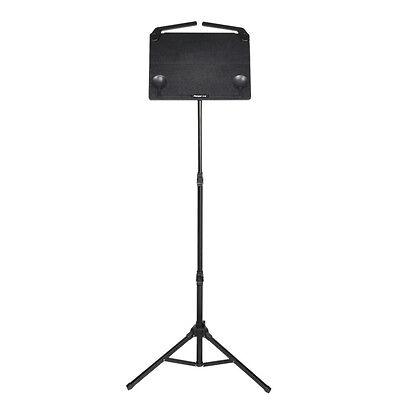 Black Music Stand Tripod Holder Aluminium Alloy Adjustable Foldable