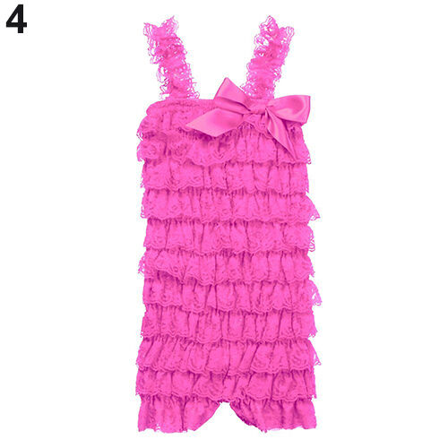 Girls/' Bowknot Lace Ruffle Petti Toddler Baby Sling Romper Jumpsuit Little