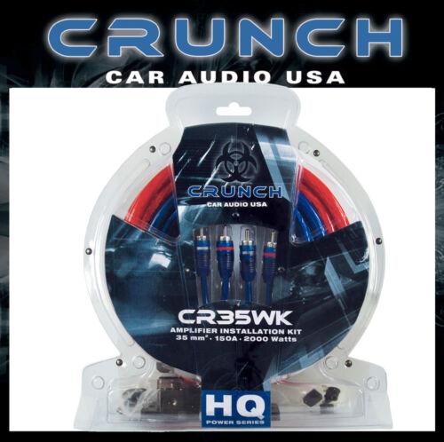 Crunch 35 mm Carré kabelkit pour amplificateur montage en voitures de qualité