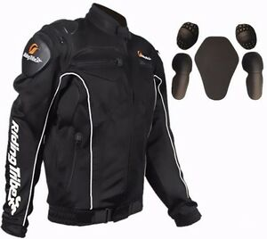 motocross motorcycle Bicycle racing jackets Armor with protection 5 pcs pads