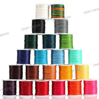 1mm Thailand Waxed Polyester Cord Macrame Bracelet Thread String - 100yds Spool