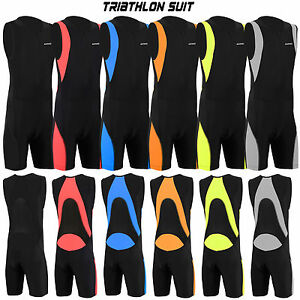 Mens-Triathlon-Suit-Cycling-Running-Compression-Tri-Suit-CoolMax-Padding-Dimex
