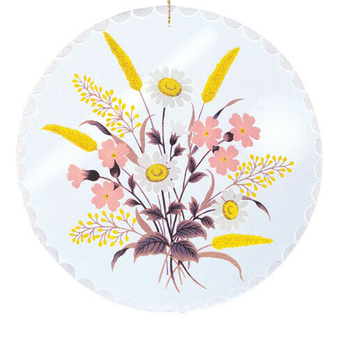 Fensterbild aus Kristallglas Motiv Blumen verschiede Dekore und Größen