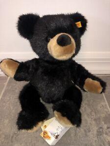 "15"" STEIFF 669385 BLACK PLUSH MACY'S YORK TEDDY BEAR STUFFED ANIMAL TOY KIDS BIG"