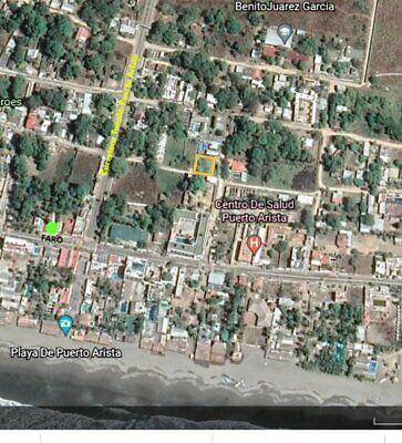Terreno en VENTA en esquina a 1 cuadra de la Playa en Puerto Arista, Chiapas.