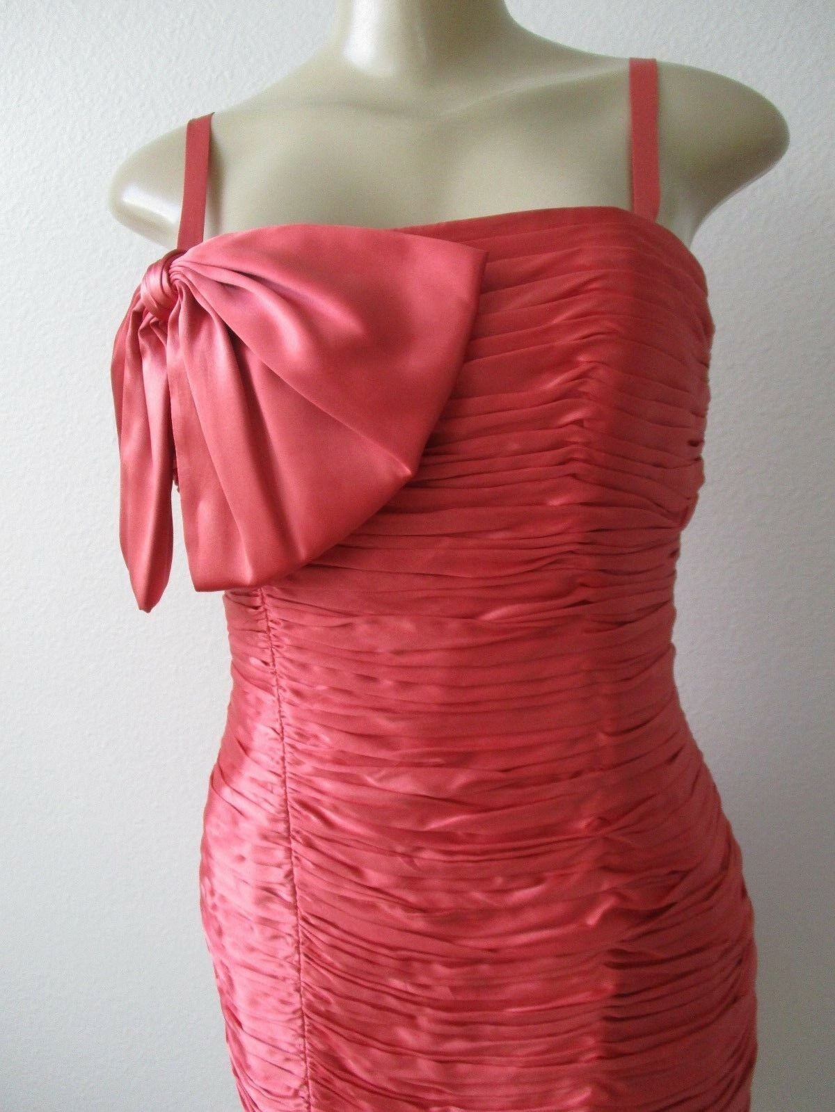 395 LAUNDRY BY SHELLI SEGAL CORAL SPAGHETTI STRAP EVENING EVENING EVENING DRESS SIZE 8 - NWT d275c5