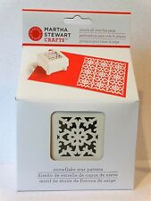 Martha Stewart SNOWFLAKE STAR PATTERN Punch all over the page Christmas quilt