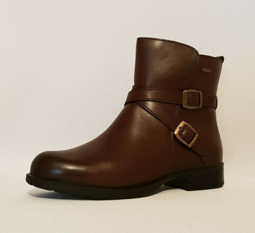 CLARKS CHESHUNTBE GTX BLACK BROWN LEATHER WATERPROOF ANKLE BIKER BOOTS RRP £100