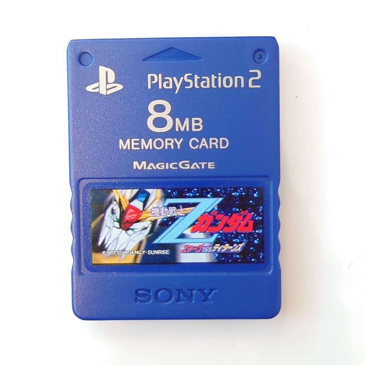 Official Sony PS2 Memory Card 8Mb PlayStation Genuine Ocean Blue SCPH-10020