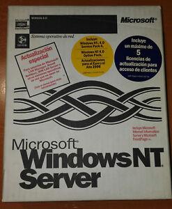 Windows-NT-Server-4-0-5-Licencias-Service-Pack-4-Frontpage-98-Espanol