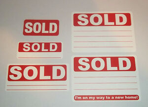 500 Pack Audioprint Ltd SOLD Im On My Way To A New Home 50 x 70mm Stickers