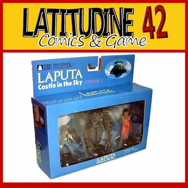 LAPUTA 3 FIGURE SET COMINICA COLLECTION 9CM MANGA ANIME GHIBLI NUOVO NEW
