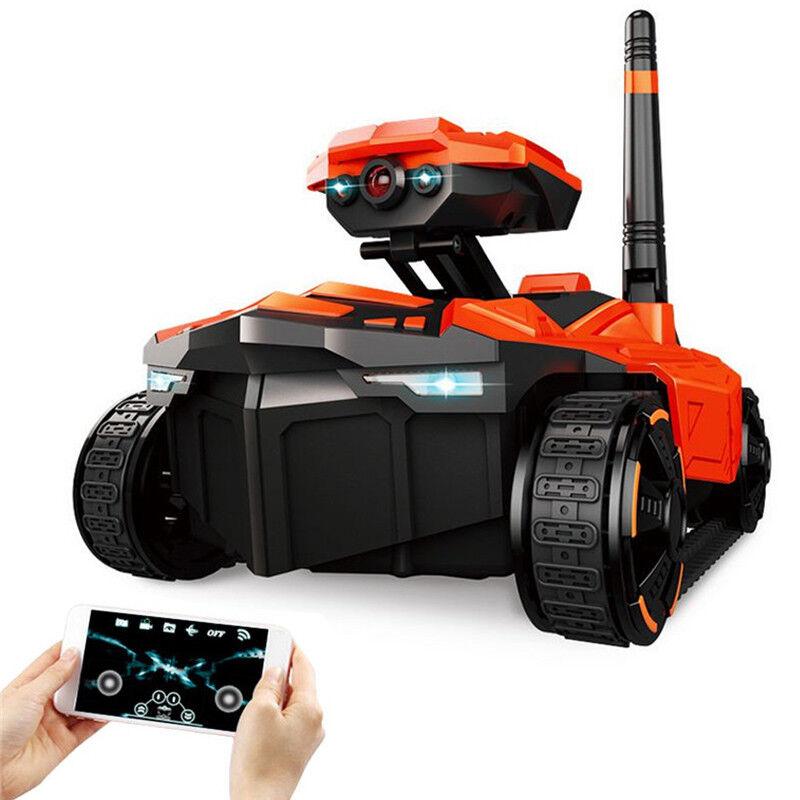 Tanque De Coche RC YD-211 Wi-fi FPV 0.3MP App Control Remoto Juguete teléfono robot controlado