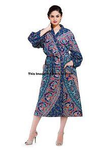 Image is loading Indian-Elephant-Mandala-Bath-Robes-Evening-Gown-Cotton- bd6f1e33e