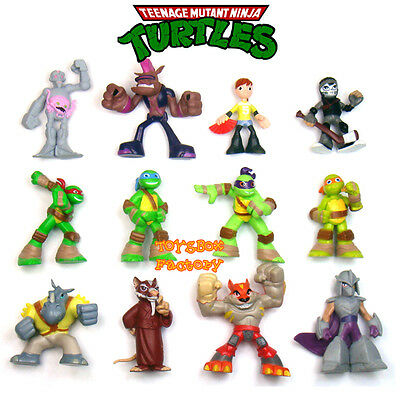 12pcs Teenage Mutant Ninja Turtles Movie TMNT Mini Figures Kid Child Toy Set 5cm