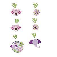 6 Wild One Safari Girl Hanging Decorations Baby Shower Jungle Birthday Pink
