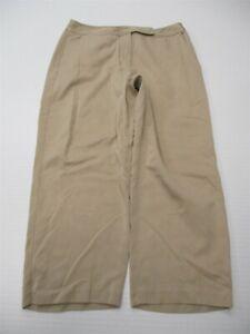 TOMMY-BAHAMA-Crop-Pants-Women-039-s-Size-8-Silk-Blend-Flat-Front-Tan