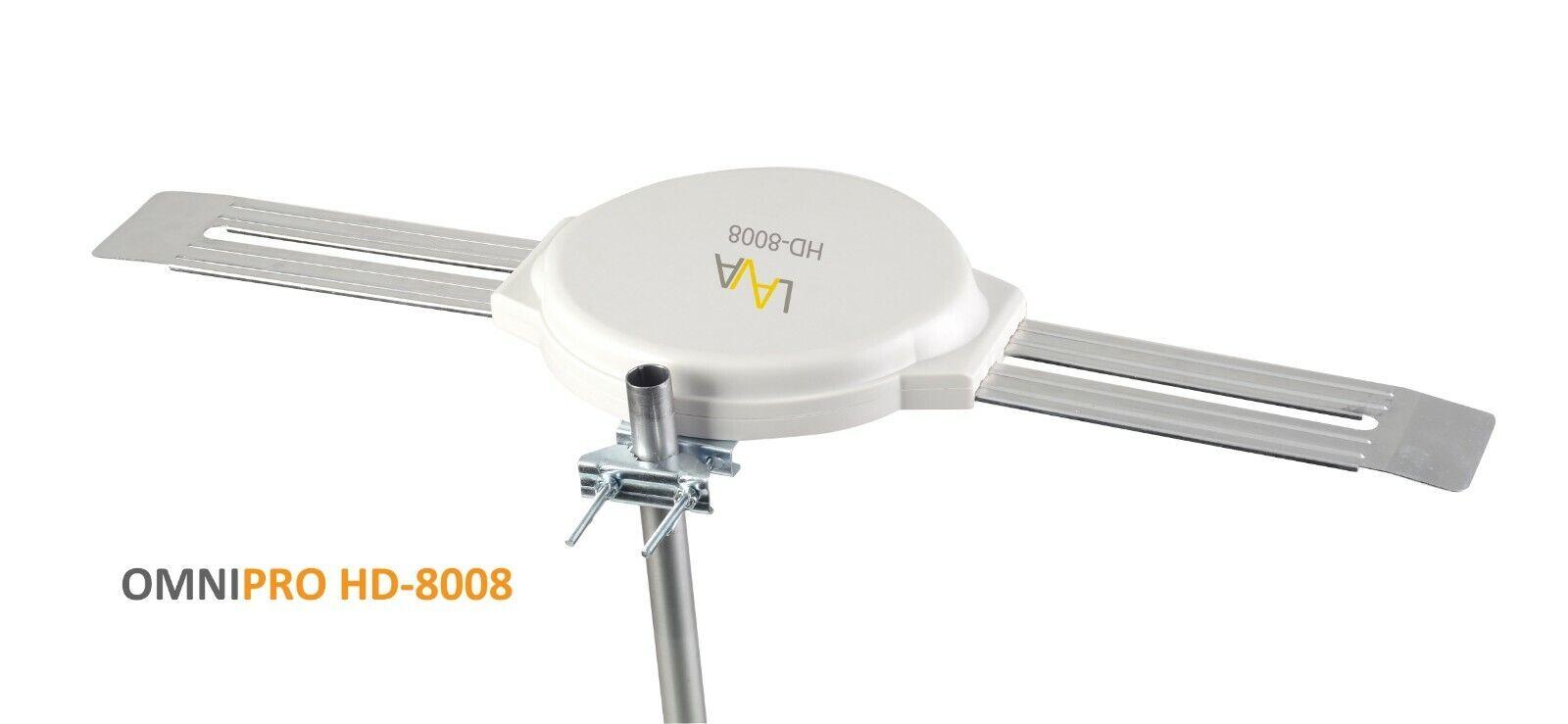HD-8008 yyelectronicincyy LAVA HD-8008 Outdoor TV Antenna-Omni Directional- UHF/VHF/FM/SDTV/HDTV/4K