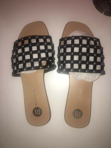 Island Size Studded On River 7 Sandals Bnwt Slide 5qxgUwBY
