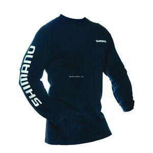New shimano long sleeve fishing t shirt m navy ateelsmnv for Shimano fishing shirts